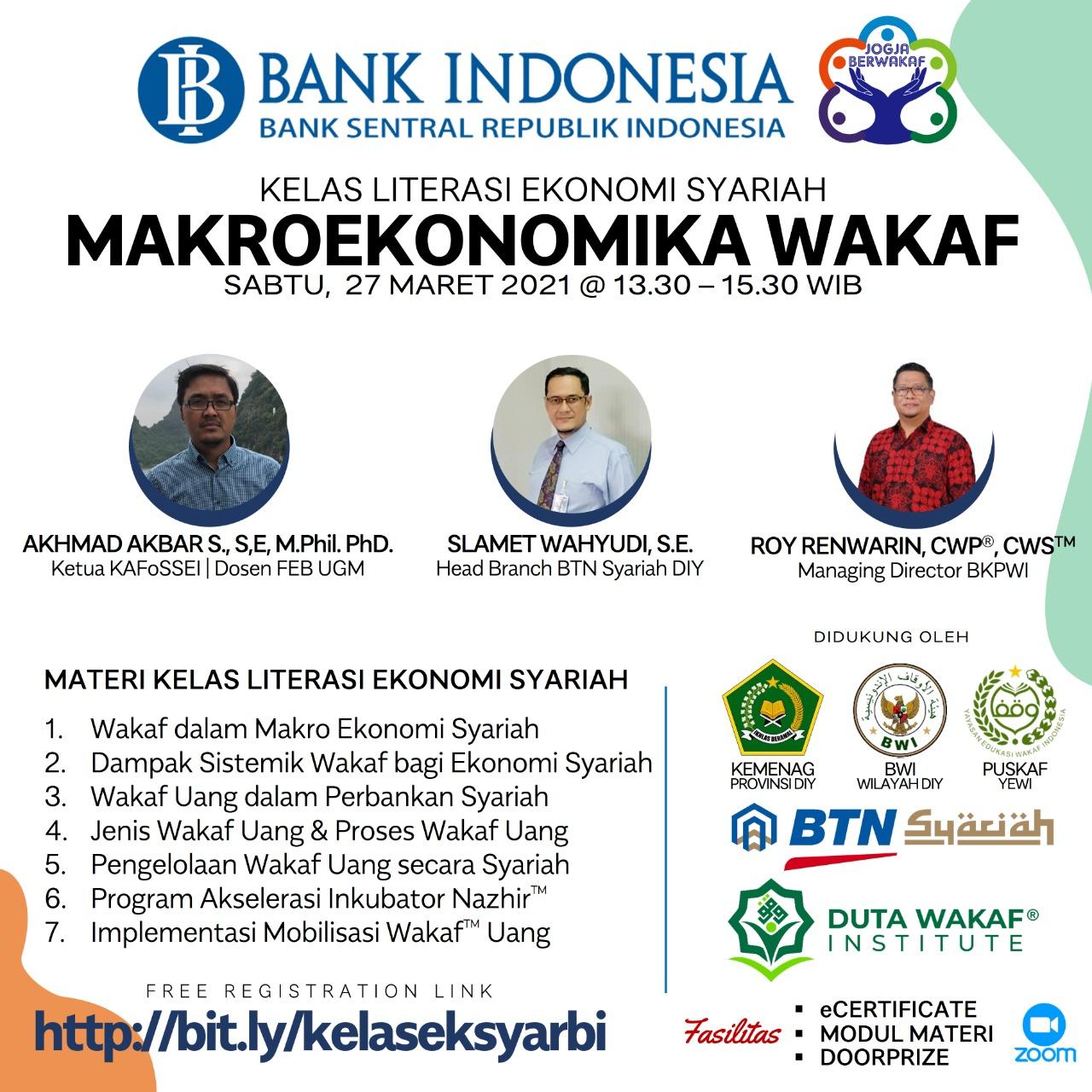 KELAS LITERASI EKONOMI SYARIAH BANK INDONESIA